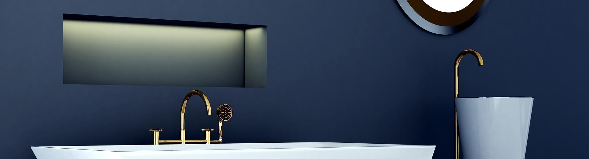 Granat I Złoto Eleganckie Połączenie Do łazienki Viverto