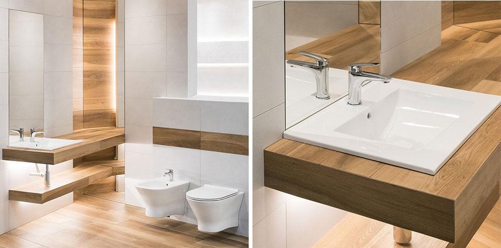 Urządzenie łazienki zdjęcie 6 - aranżacja essencia biało szara mat