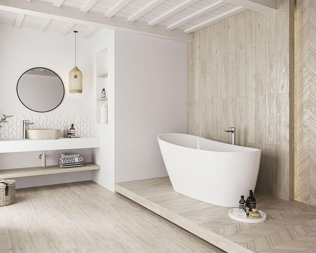 aranżacja przestronnej łazienki ceramika paradyż