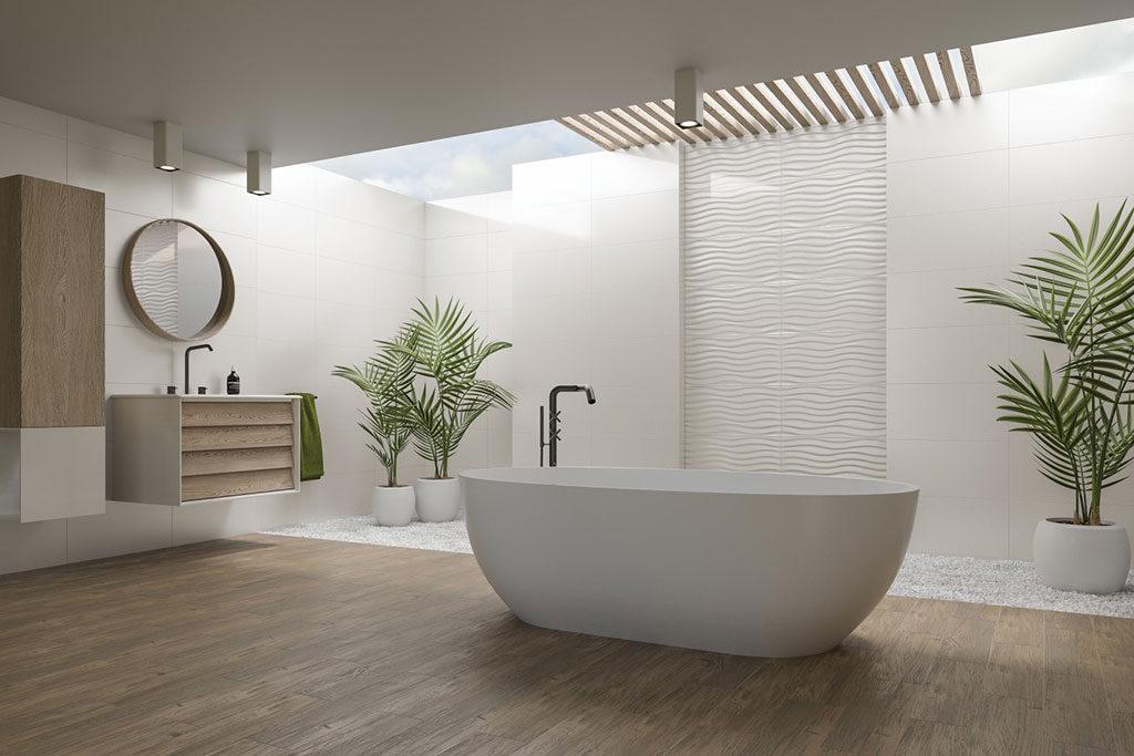 Urządzenie łazienki zdjęcie 1 - ceramica limone płytki drewnopodobne