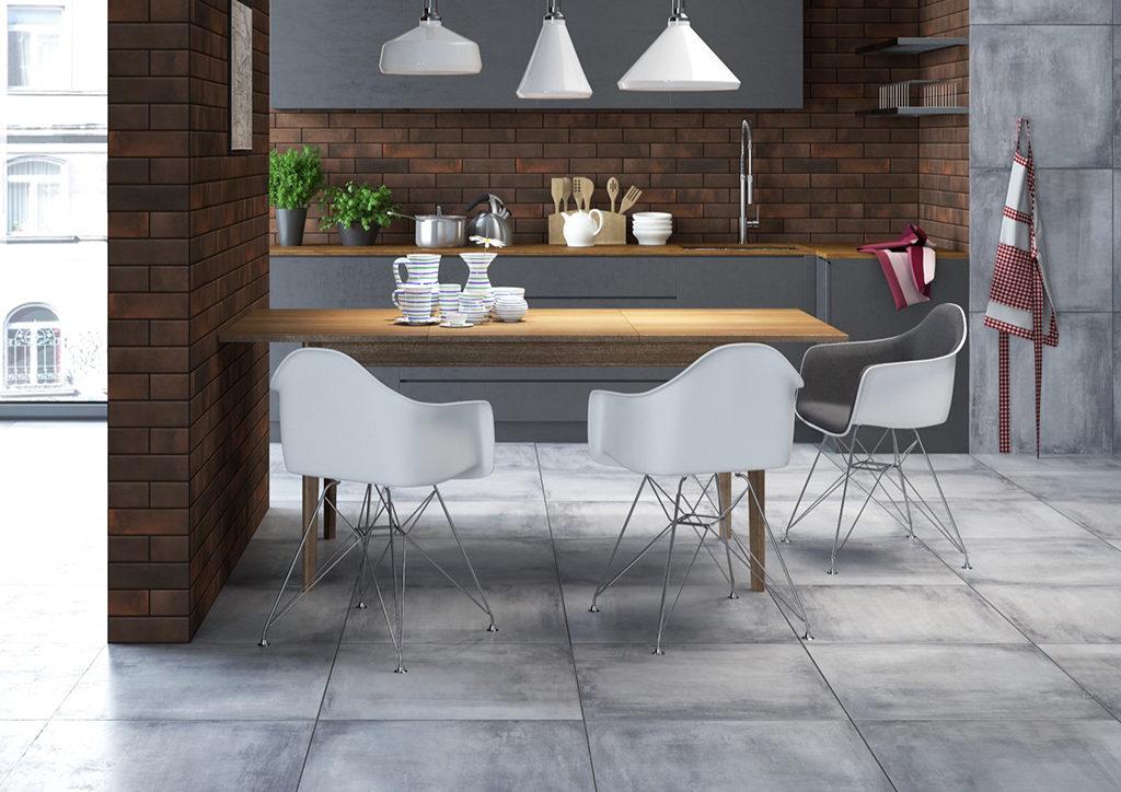 Szara kuchnia w betonie w stylu loft