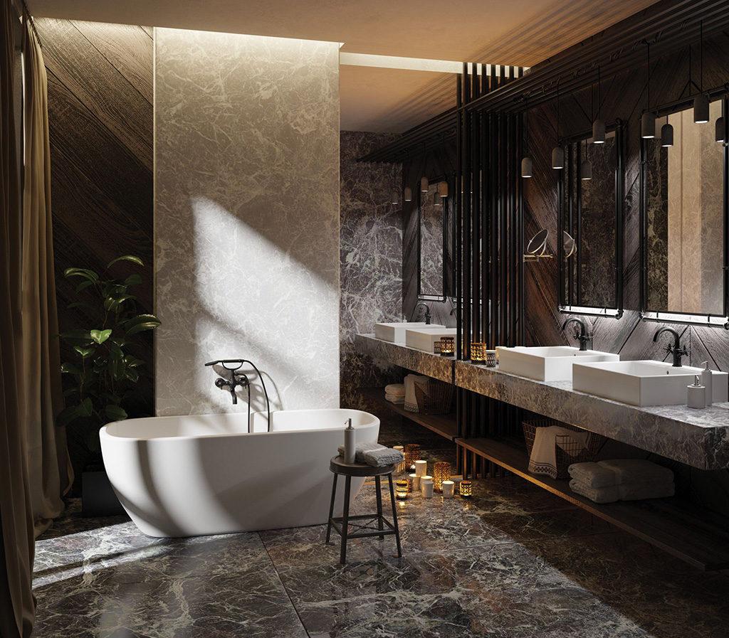 łazienka wkamieniu w awangardowym wydaniu