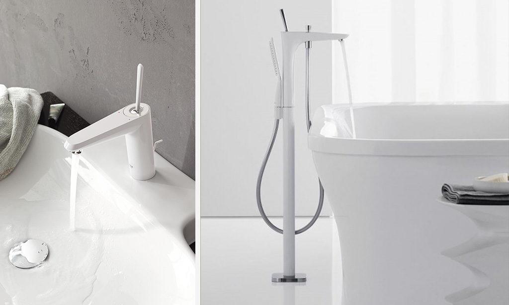 Biała armatura do minimalistycznej łazienki