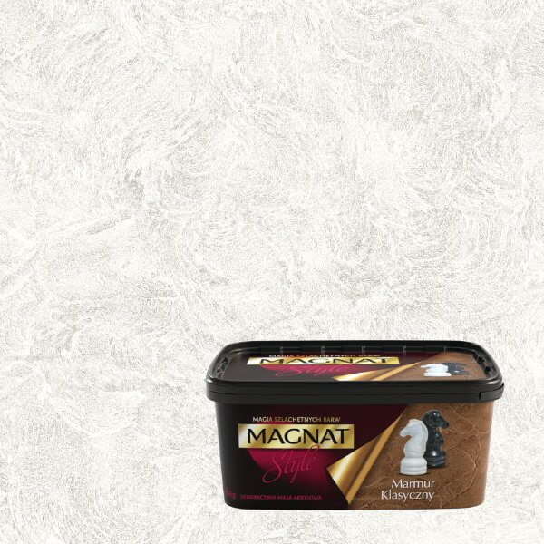 Dekoracyjna Masa Akrylowa Marmur Klasyczny Niebarwiony 15kg Magnat Style