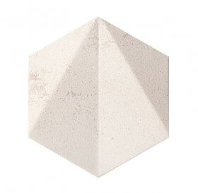 Dekor Free Space Hex White Str 11X12.5 Tubądzin