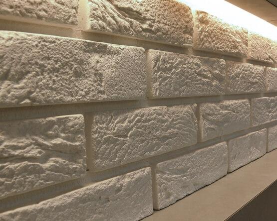 Kamień Dekoracyjny Z Fugą Parma 1 Biały 222x74 Stegu