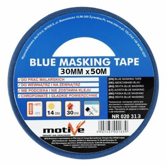 Taśma Malarska Blue Masking Tape 50m x 38mm 020 314 Motive